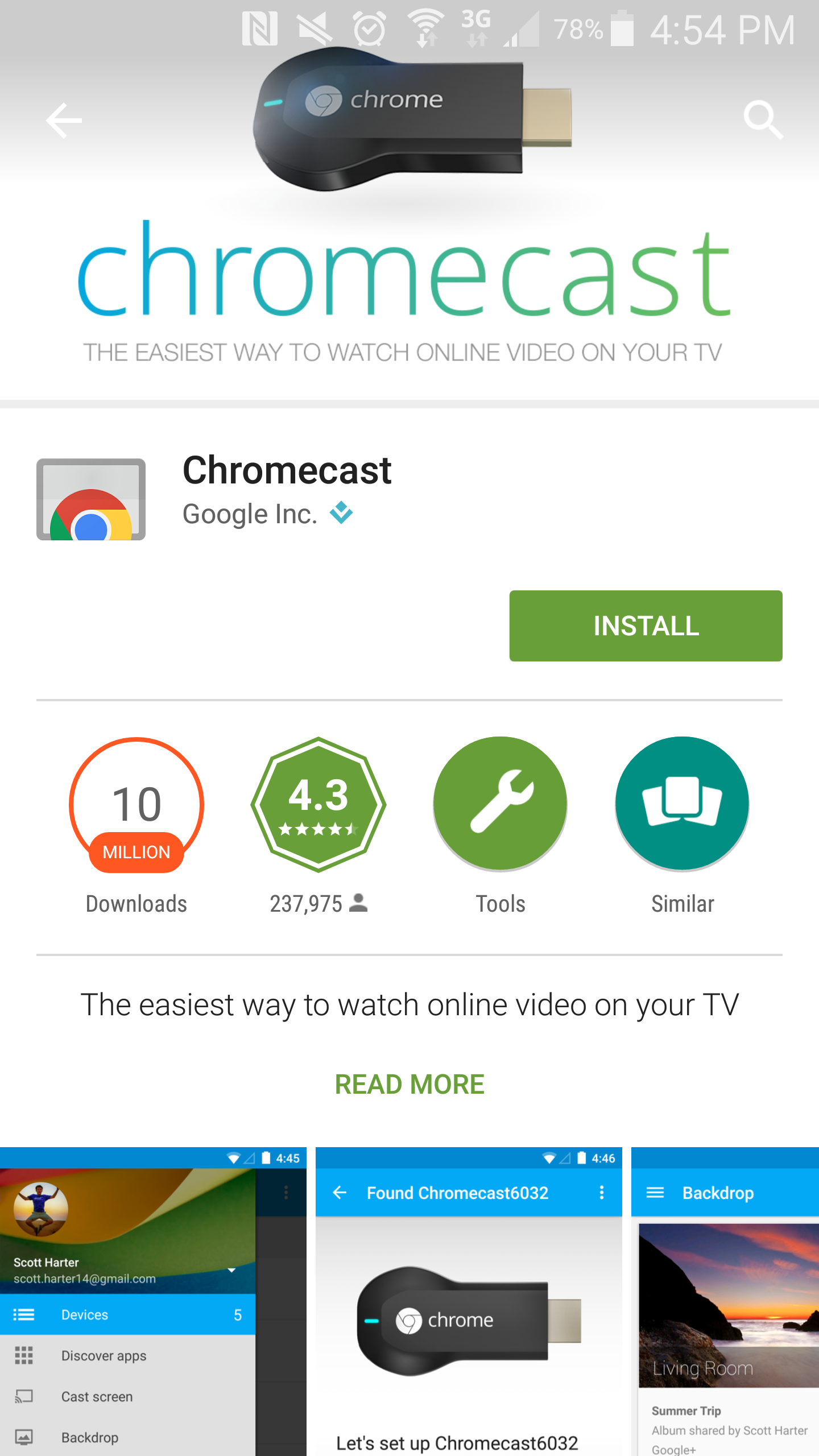 Google Play Chromecast