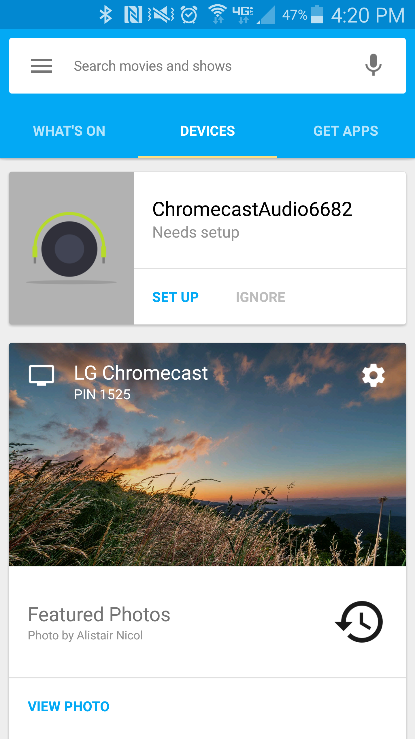 chromecast setup laptop